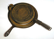 Cast Iron American No. 9 Griswold Waffle Iron Pat 1908 978a 979b 980b