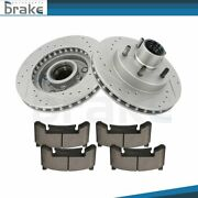 Front Discs Brake Rotors + Ceramic Pads For Isuzu Hombre 98-00 2wd Drill And Slot