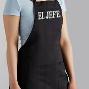 El Jefe Boss Bbq Dad Gift Grill Cooking Bib Grilling Husband Chef Manly Apron