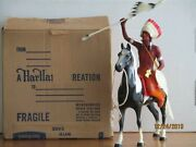 Vintage 1950's Hartland Chief Thunderbird W/box Black And White Pinto Complete