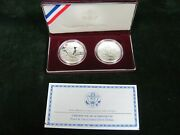 1999 Dolley Madison Commemorative Silver Unc And Proof Dollar Set