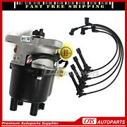 Ignition Distributor Manual Trans + Spark Plug Wire Set For 90-91 Acura Integra