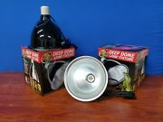 2 Zoo Med Lf-17 Black Deep Dome Lamp Fixture - Bulb Not Included D3