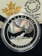 2014 Canada 20 Fine Silver Coin A Story Of The Northern Lights Howling Wolf