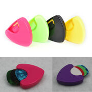 1pc New Plactic Guitar Pick Plectrum Holder Case Box Triangle Shaped Aw