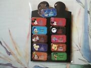 11 Disney World 1971 Admission Tickets - - Complete  Pin Set