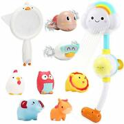 Cute Stone Bath Toy Bathtub Toy Battery Operated Water Pump Electric Shower