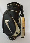 Rare Nike Staff Golf Bag Black And Silver Nike Logo Five Pockets Used Condition