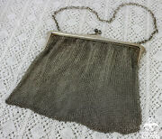 1919 Antique England Horton And Allday Sterling Mesh Victorian Ladies Chain Purse
