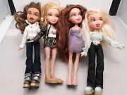 Bratz Dolls Lot Of 4 Clothes And Shoes 2001