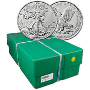2021 American Silver Eagle Type 2 1 Oz 1 - Bu - Sealed 500 Coin Monster Box