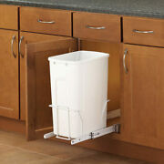 Kitchen Cabinet Trashcan Rollout Garbage Pale Pullout Cabinet Narrow 10 Opening