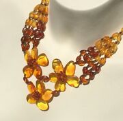 Vintage Inspired Baltic Sea Amber Necklace And Ring Genuine From Early 2000s 32g