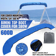 600d Bimini Top Boot Cover Storage Bag Sock Boat Shade No Frame For 3 Bow 54-60