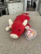 Retired 1995 Beanie Baby Andldquosnortandrdquo Mint Condition. Tag Casing. P.v.c. Pellets