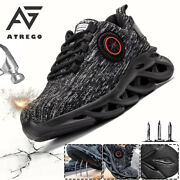 Atrego Mens Mesh Safety Work Trainers Shoes Steel Toe Double Sole Lig