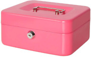 Cash Box With Lock Money Safe Unbreakable Strong Metal With Plastic Tray