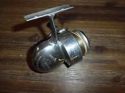 Vintage Airex Bache Brown Spinster 1/2 Bail Spinning Reel Made In Usa W Reel Bag