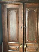 Armoire-very Old Solid Wood Teak Armoire From Indonesia. Use With/wo Shelves.andnbsp