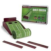 Putting Mat Golf Green Indoor And Outdoor With Auto Ball Returncrystal