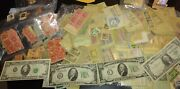 Paper Money And Old Stamp Us Collection Lot 1988 20 Bill,1934 C And A Ten Bill