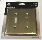 60 X Ge Dual Vintage Brass Plated Light Switch Wallplate Wall Plate 52105 Gt25