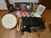 Sony Playstation2 Ps2 Game Console Set Japan [operation Confirmed] With Bonus