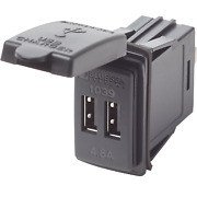 Usb Dual Outlet Contura Switch Style 12/24vdc By Blue Seas Bs-1039