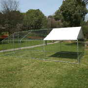 20x10 Ft Hen House Walk In Chicken Coop Run Backyard Poultry Rabbit Cage And Cover