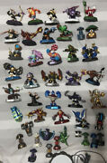 Large 44 Piece Skylanders 2015 And 2016 Lot With Many Rare Crystals Figures Chest