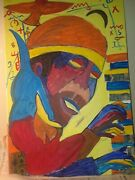 Cecil Taylor Painting Collage By A Alleyne