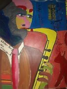 Lester Young Paintingcollage By A Alleyne