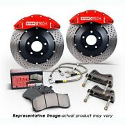 Stoptech 83-b38005871 Rear Big Brake Kit 380mm X 32mm 2 Piece Slotted Rotors Red