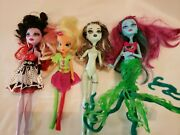 Monster High Doll Lot Of 4 Dolls, Please Look Closely At All Pictures Used