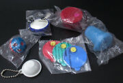 Lot Of 6 New Rare Tupperware Tiny Treasure Collectible Keychains/ Magnets/penci