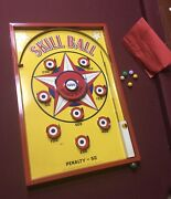 Vintage No. 200 Skill Ball Marble Game Made By World Metal Stamping Co., Usa