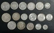 Lot Of Rare 17 Middle East Silver Coins Mixed Grades Xf-unc