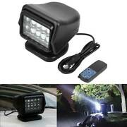12v 50w Abs Spotlight Led Searchlight Light W/remote Control For Boat Truck Car