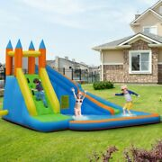 Inflatable Water Slide Jumper Mighty Bounce House Castle Moonwalk No Blower