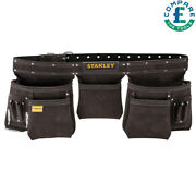 Stanley 1-80-113 Leather Tool Apron Pouch Double Stitched Durable Sta180113