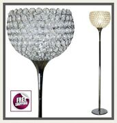 Silver Crystal Floor Lamp Ball Shape Contemporary Modern Vintage Classic New