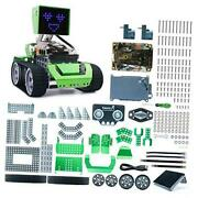 Stem 6 In 1 Metal Qoopers Robot Building Kit With Remote Control Black-green