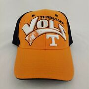 Embroidered Tennessee Vols Orange Black Top Of The World Strapback Hat - H534