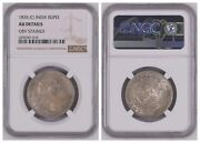 Ngc India British 1835 C 1 Rupee William Iv Silver Coin Au Stained