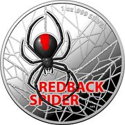 2021 Australia 1 Redback Spider Colorized Proof 1 Oz Silver Coin - 1000 Made