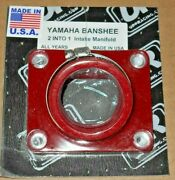Banshee Trinity 2 Into 1, Engine Reed Cage Red Intake Boot,carburetor Joint