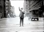 New York City Police Officer 1920 Nypd Original Glass Plate Photo Negative