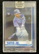 2019 Topps Clearly Authentic San Diego Padres Fernando Tatis Jr. Autographs Blue