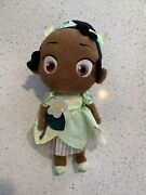 Disney Store Toddler Tiana Baby Plush Princess And The Frog Animators Doll Toy