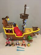 Jake And The Neverland Pirates Bucky Ship Lot Toys Clean Tested